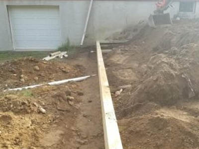 retaining wall and septic repairs.